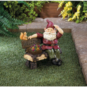 Solar Gnome Welcome Garden Accent