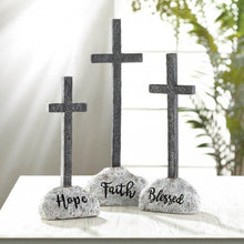 Load image into Gallery viewer, Stone and Cross Figurine -