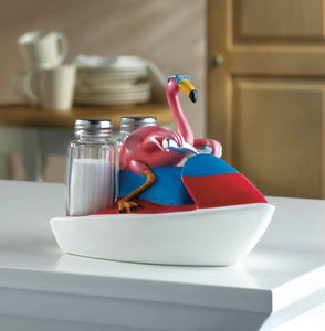 Whimsical Flamingo Salt and Pepper Shakers