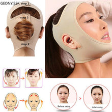 Load image into Gallery viewer, Delicate Facial Thin Face Mask Slimming Bandage Skin Care Belt Shape And Lift Reduce Double Chin Face Mask Face Thining Band