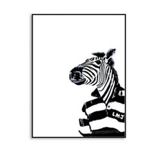 Load image into Gallery viewer, Nordic Black and White Animals Alphabet Abstract canvas painting Art Poster Decorative Painting Living Room kitchen word picture