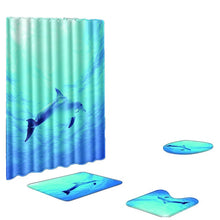 Load image into Gallery viewer, 4PCS Non Slip Non-toxicToilet Polyester Cover Mat Set Bathroom Shower Curtain Waterproof Simple Bathroom Curtain 2019 #X