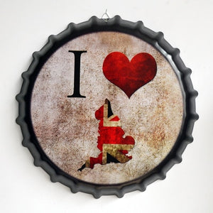 Creative Iron Beer Bottle Cap Artcrafts Retro Stickers Wall Hanging Decoration Vintage Bar Cafe Shop Home Decoration Accessories