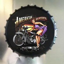 Load image into Gallery viewer, Creative Iron Beer Bottle Cap Artcrafts Retro Stickers Wall Hanging Decoration Vintage Bar Cafe Shop Home Decoration Accessories