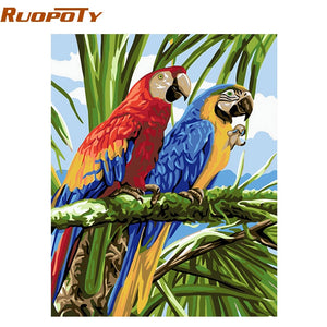 RUOPOTY Frame Birds DIY Painting By Numbers Home Decor Wall Painting Coloring Paint On Canvas Unique Gift For Wall Art Picture