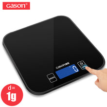 Load image into Gallery viewer, GASON C1 Mini Kitchen Scale Electronic  Precision Measure Tools Balance Digital Gram Cooking Food Glass LCD Display 15kg/1g