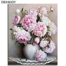 Load image into Gallery viewer, Hot Selling Framed Flower DIY Painting By Numbers Wall Art DIY Canvas Oil Painting Home Decor For Living Room 40*50cm GX4227