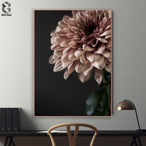 Classic Canvas Painting Flowers Wall Art Posters and Prints Texture Picture for Living Room Wall Decoration Home Decor