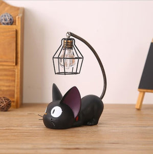 Resin Cat Home Decoration Accessorie Miniature Cute Cat Night Light Decor Crafts Creative Gifts Bedroom table Ornament 05331