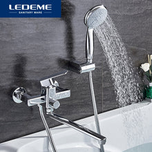 Load image into Gallery viewer, LEDEME Shower Faucet Set Bathroom Brass Bathtub Shower Faucet Bath Shower Tap Chrome Plated Shower Head Wall Mixer Tap L2233