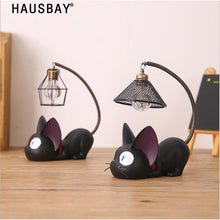 Load image into Gallery viewer, Resin Cat Home Decoration Accessorie Miniature Cute Cat Night Light Decor Crafts Creative Gifts Bedroom table Ornament 05331