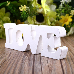 "Wood Letters for Crafts Wedding Woody Romantic English Alphabet ""LOVE"" Home Decoration Accessories Wooden Letter Sign Desk Decor"