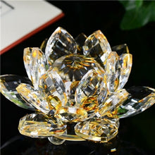Load image into Gallery viewer, Creative 3D Lotus Crystal Glass Home Decoration Paperweight Ornament Feng Shui Flower Decor Collection Adornment A65
