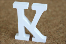 Load image into Gallery viewer, 8cm free Standing Artificial wood wooden white Letters for Wedding Decorations & Home Decorations of Brithday Gifts
