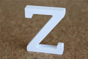 8cm free Standing Artificial wood wooden white Letters for Wedding Decorations & Home Decorations of Brithday Gifts