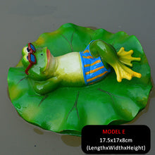 Load image into Gallery viewer, Creative Resin Floating Frogs Statue Outdoor Garden Pond Decorative Cute Frog Sculpture For Home Desk Garden Decor Ornament