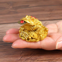 Load image into Gallery viewer, 1pcs Chinese Fortune Frog Feng Shui Lucky Three Legged Money Toad Home Office Shop Business Decoration Craft Gift YLM9769