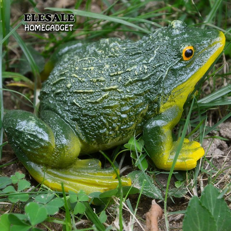 Decorative Frog Statue DIY Outdoor Garden Decor Ornament