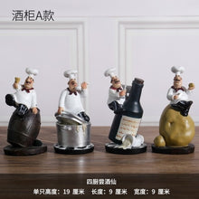 Load image into Gallery viewer, Creative Resin Chef Figurines Bakery Decoration Home Decoration Accessories Living Room Decoration Wine Rack Bakery Ornaments