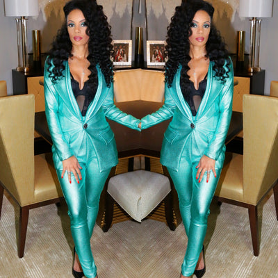 Custom Teal suit