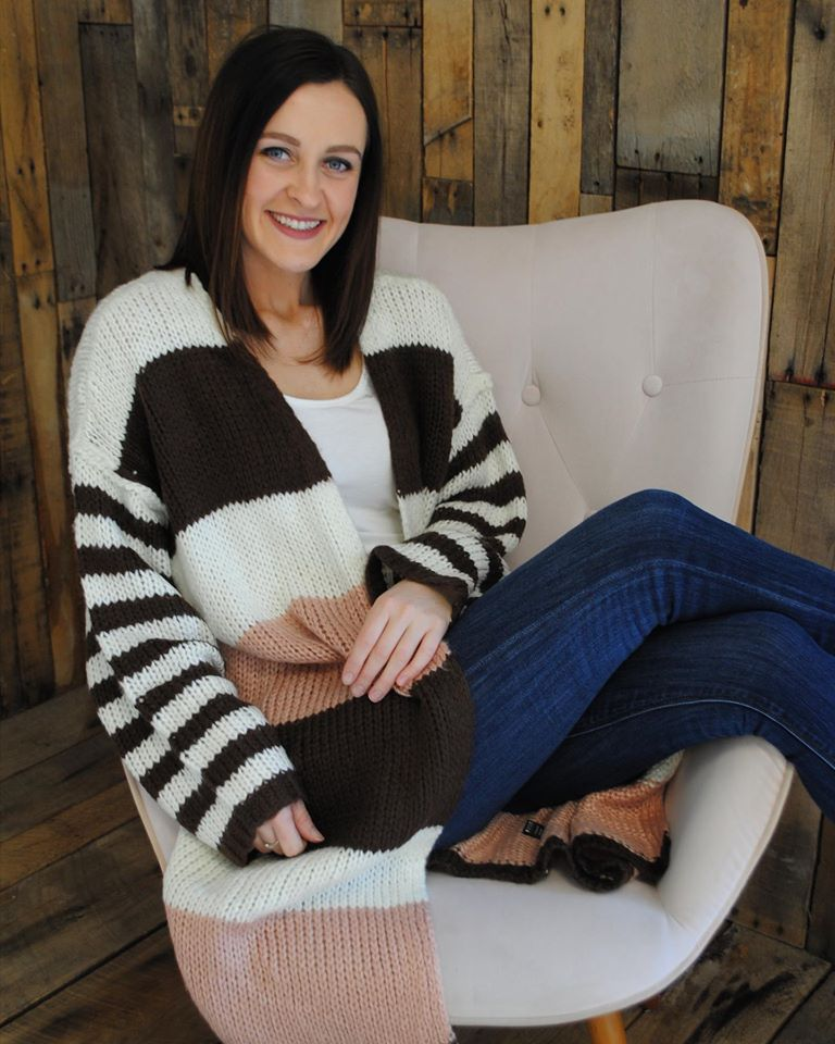 Stripes on Stripes Cardi