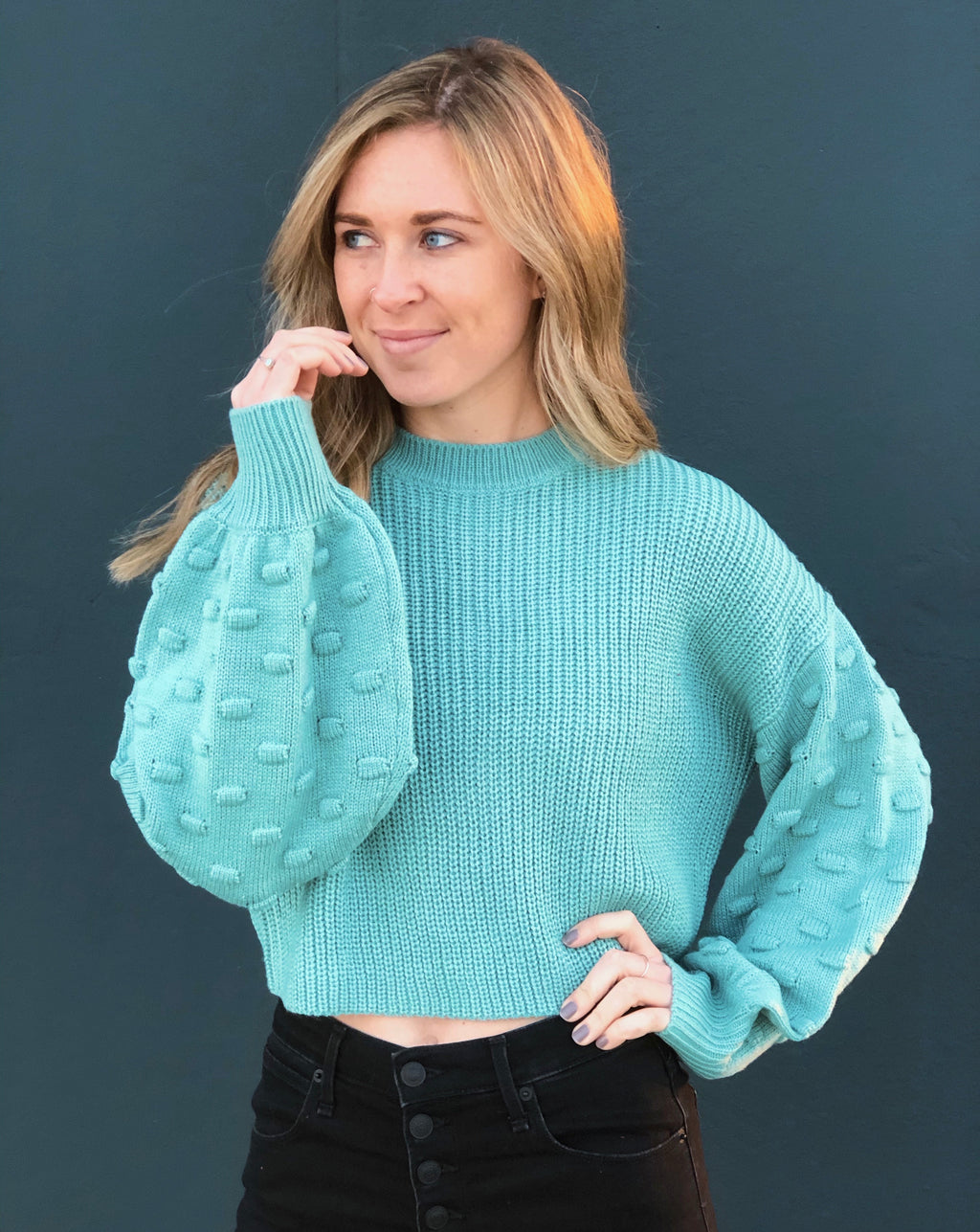 Bubbly Blue Sweater