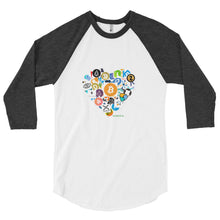 Crypto Love 3/4 sleeve raglan shirt - TC Merch