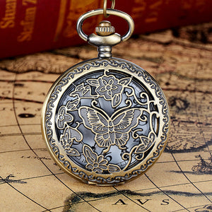 HAUNTED Vintage Bronze Tone Chain Pendant Pocket Watch