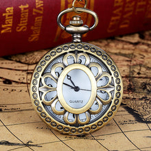 Load image into Gallery viewer, HAUNTED Vintage Bronze Tone Chain Pendant Pocket Watch