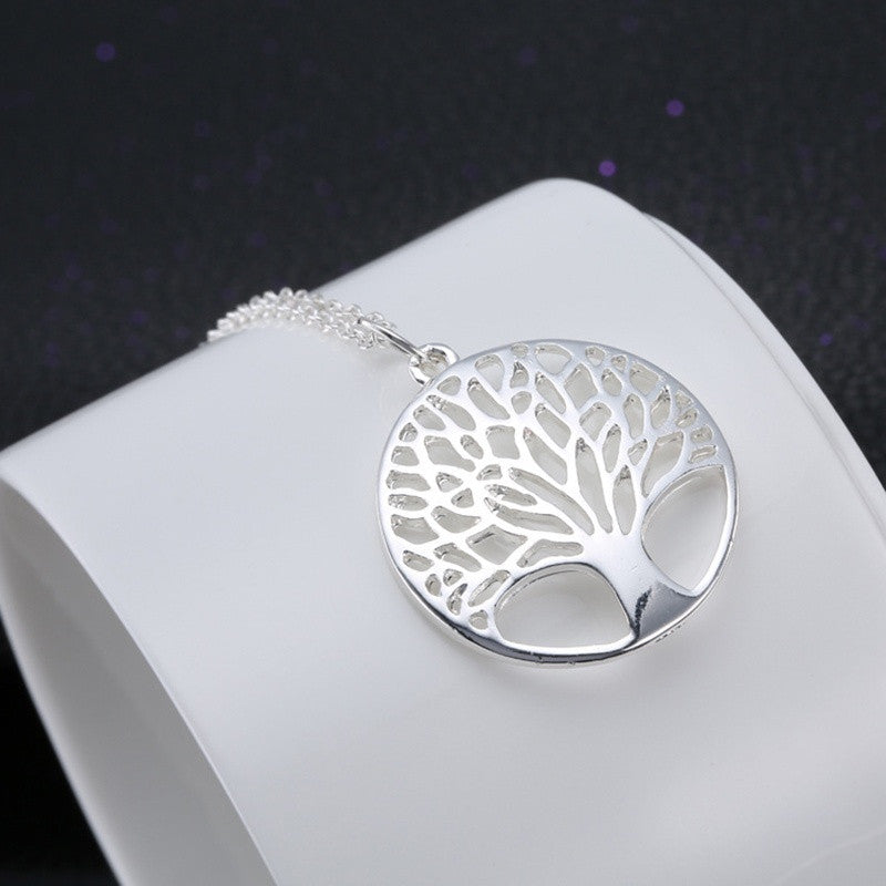 FREE SILVER CLASSIC CELTIC TREE OF LIFE PENDANT NECKLACE