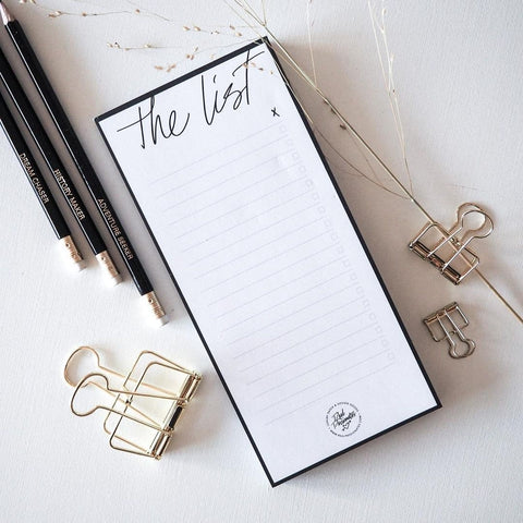 notepad The List real passionates shirley chiche
