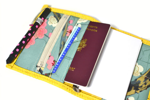 planner pocket organiseur compagnon simili cuir dragon jaune moutarde