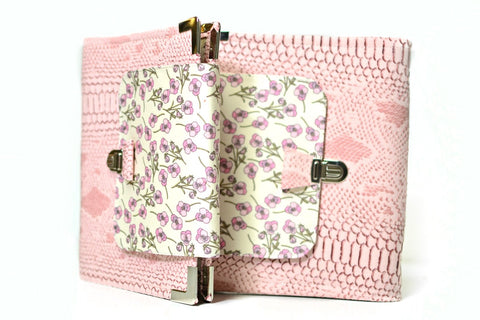 planner A5 simili-cuir dragon rose et Liberty Roz rose Shirley Chiche