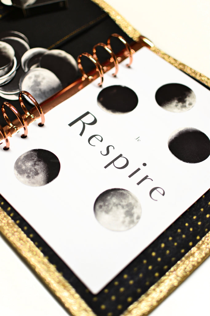 stickers lune phases décoration carnet