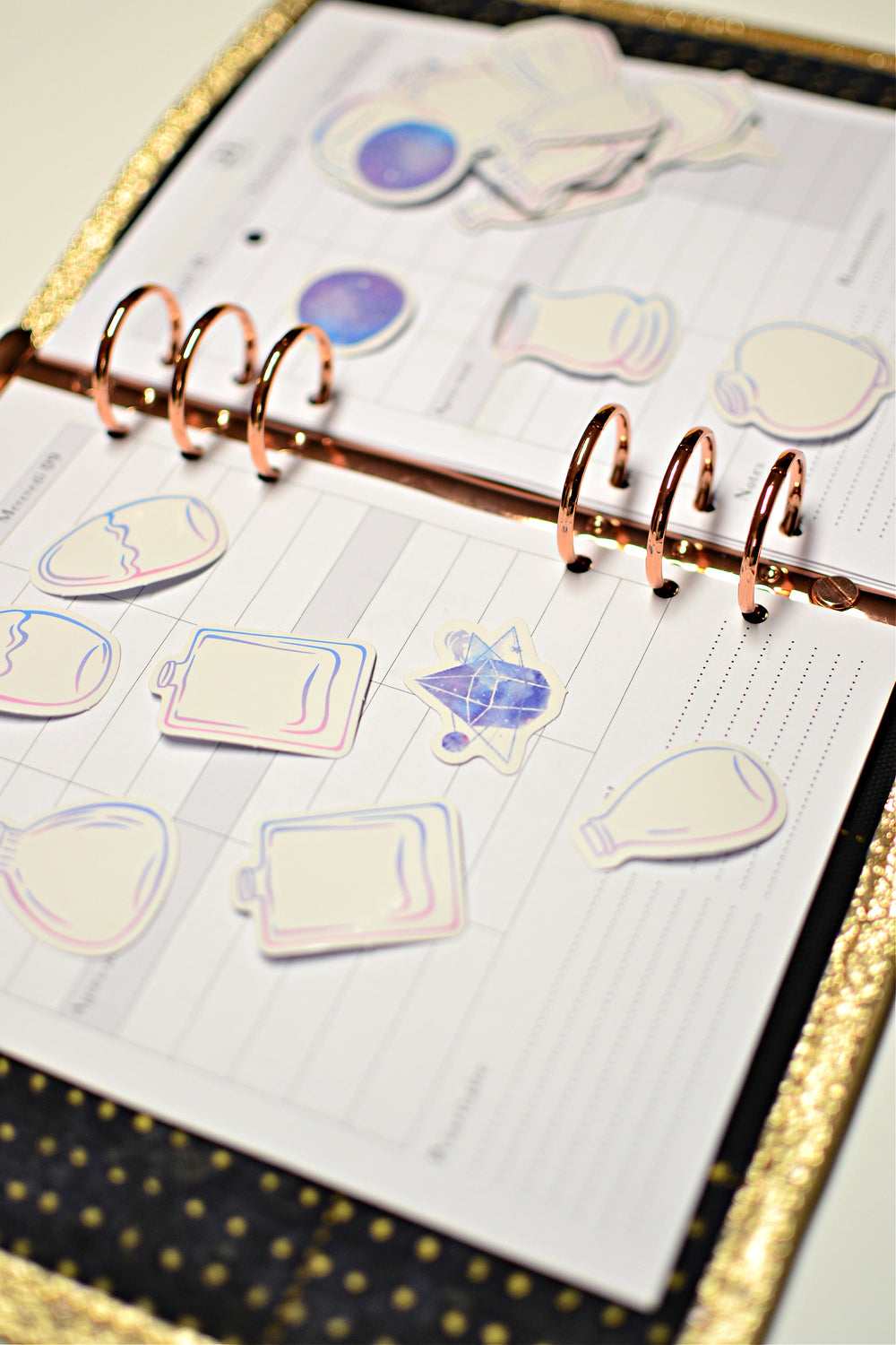 stickers potions magiques deco bullet journal