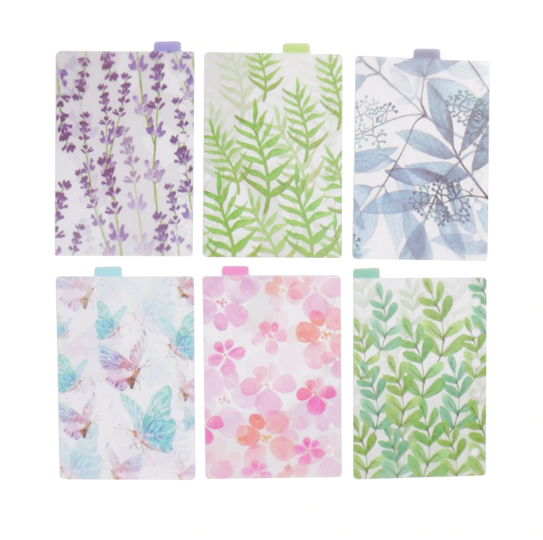 shirley-chiche - Onglets intercalaires pour pocket planner A7 / A6 / A5 motifs Nature