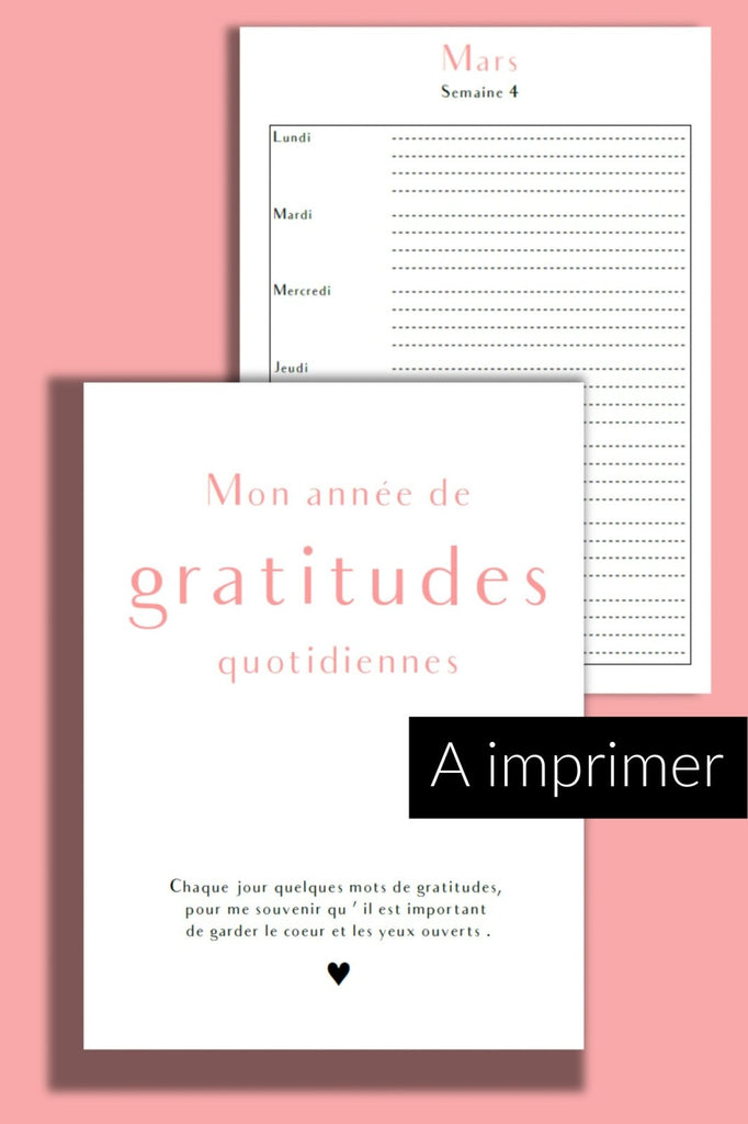 Journal de gratitudes - PDF à imprimer - NOUVELLE VERSION - Shirley Chiche