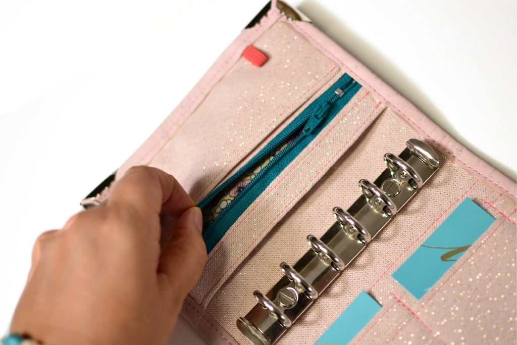 Milla Pocket planner A7 portefeuille en liège - Rose & Tatoo - Shirley Chiche