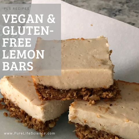Vegan & Gluten-Free Lemon Bars | Pure Life Science