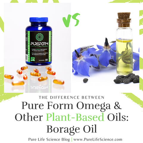 The Difference Between Pure Form Omega and Other Plant-Based Oils: Borage Oil | Pure Life Science