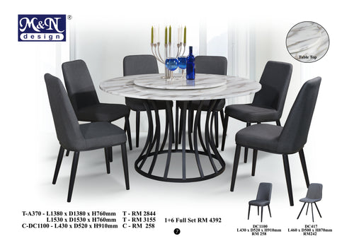 Fusion Marble Dining Table set Malaysia
