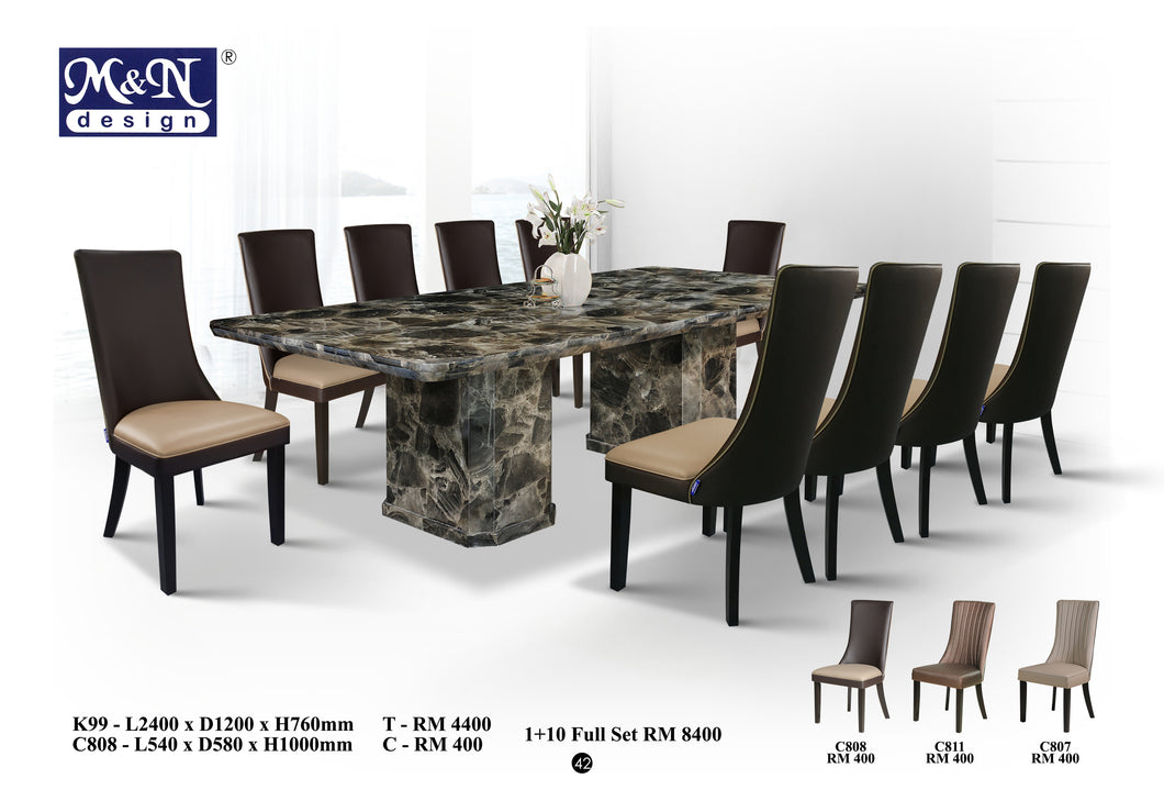 Long Marble Dining Table supplier in Malaysia
