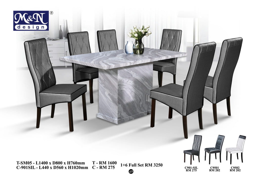 Long Marble Dining Table supplier in Malaysia by M&N Furniture Trading Sdn Bhd