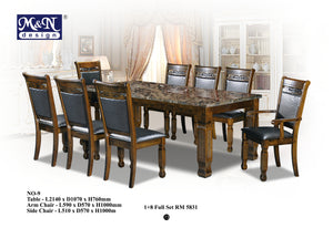 Classic Marble Dining Table supplier in Malaysia by M&N Furniture Trading Sdn Bhd