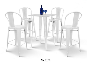 Metal Bar Table Set -T19+CD9 (1+4)