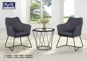 Stylish F&B Dining Table Set -T-ZH909+C-ZH909 (1+2)