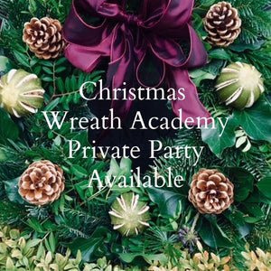 Christmas Wreath Academy Private Party Available