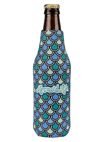 Mermaid Scales Bottle Cooler-Aqua
