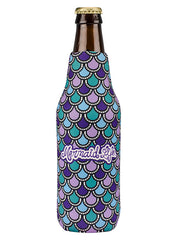 Mermaid Scales Bottle Cooler-Purple