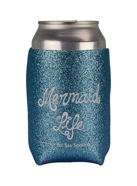 Sparkle Can Cooler-Teal